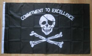 Pirate Commitment to Excellence Large Flag - 5' x 3'.